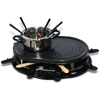 Total Chef TCRF08BN 8-Person Raclette, Black by Total Chef [並行輸入品]