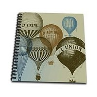 PSヴィンテージ – ヴィンテージフランスホットAir Balloons – Drawing Book 8 by 8-Inch db_178940_1