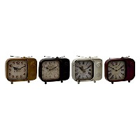 Deco 79 Metal Table Clock, 4 Assorted, 9 by 8' [並行輸入品]