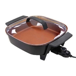 NuWave Electric Skillet 12インチ5 Quart Nonstick with強化ガラス蓋by NuWave