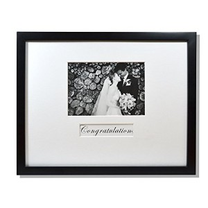 Golden State Art, 11x14 Wedding Wood Wall Frame for 5x7 Picture with Signature Mat, Black by Golden...