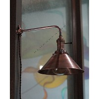 Vintage Industrial Copper Shade Wall Lamp Retro Pendant light Mount Lightning By Nauticalmart