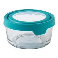 Anchor Hocking 4 Cup True Seal Round Food Storage, Teal by Anchor Hocking