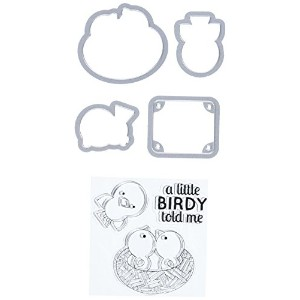 Sizzix Framelits Die Set with Stamps A Little Birdy Told Me by Doodlebug Design by Sizzix