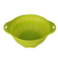 Jovilife Collapsible Silicone Kitchen Colander/Strainer,Green,10 inch by Jovilife