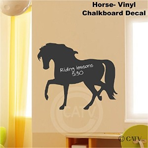 Chalkboard Horse self adhesive vinyl wall decal sticker 20x24 by Wall Saying Vinyl Lettering