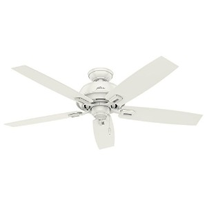 "Hunter Fan Company 54168 52"" Donegan Ceiling Fan, Fresh White"