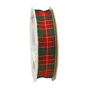 Morex Ribbon 57325/25-609 French Wired Acetate Glasgow Ribbon, 1-Inch by 27-Yard, Red by Morex...