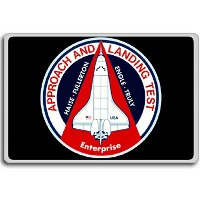 Enterprise Approach & Landing Tests - Miscellaneous Space Shuttle Patches Insignia fridge magnet - ...