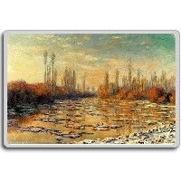 Monet Claude [1875] The Seine At Argenteuil classic art fridge magnet - ?????????
