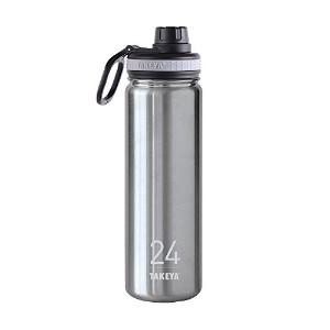 Takeya ThermoFlask Insulated Stainless Steel Water Bottle, 24 oz, Steel by Takeya