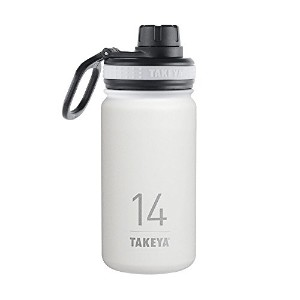 Takeya ThermoFlask Insulated Stainless Steel Water Bottle, 14 oz, Snow by Takeya