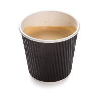 4 ounces Black Disposable Ripple Wall Coffee and Tea Cup 500 count box by Restaurantware