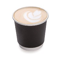 4 ounces Black Disposable Double Wall Coffee and Tea Cup 500 count box by Restaurantware