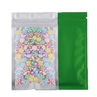 100 Assorted Translucent/Silver/Colored Flat Metallic Foil Mylar Zip Lock Bags Pouch 8.5x13cm (3...