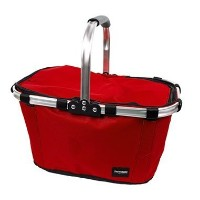 Insulated Picnic Basket - Insulated Lightweight Cooler with Carrying Handle (Red) by Thermotastic