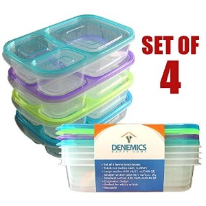 BENTO LUNCH BOX SET; Lunch Box For Children, Toddlers & Adults; (lunch boxes kids, lunch box girls,...
