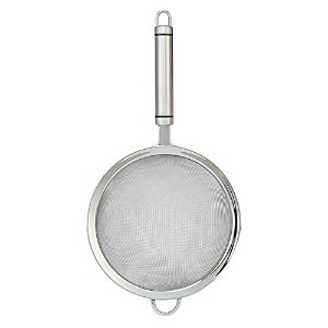 HeyLR 6.5 inch Stainless Steel 18/8 Fine Mesh Food Strainer Kitchen Colander and Sifters Crafted for Quinoa and Comfortable Handles by HeyLR