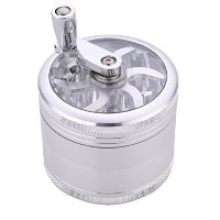 Ziselu 4 piece/3 Chamber Hand Crank Tobacco Grinder(2.5 inch) Precision Aluminum Herb Grinder with...