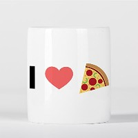 I Love Pizza Emoji Heart 貯金箱
