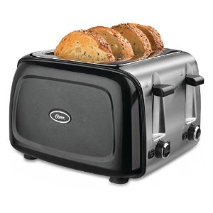 Oster TSSTTRPMB4 4-Slice Toaster, Metallic Black by Oster