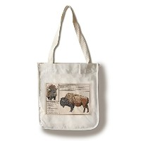 Plains Bison – テクニカル Canvas Tote Bag LANT-76709-TT