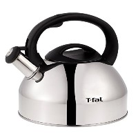 T-fal C76220 Specialty Stainless Steel Dishwasher Safe Whistling Coffee and Tea Kettle, 3-Quart,...
