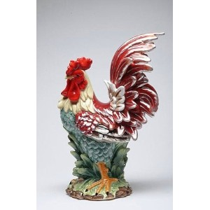 Appletree Design A Day in the Country Rooster Figurine, 15-3/4-Inch Tall [並行輸入品]