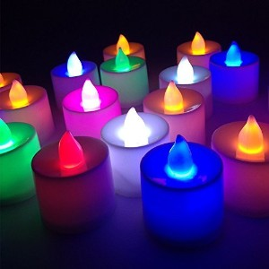 sekishun-cho battery-powered Flameless LED Tealight Candles–The Perfect装飾24パック flameless candle