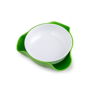 Kitchen winners Double Dish Nut Bowl with Pistachios Shell Storage - Green by Kitchen Winners