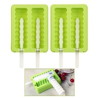 OUNONA Silicone Popsicle Molds Popsicle Maker Ice Pop Molds BPA Free with Lid Set of 2 by OUNONA