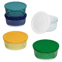Pyrex 2-cupガラス食品ストレージセットwith Lids 10-Piece クリア 1125925