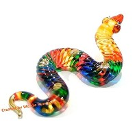 Handmade Snake Art Glass Blown Wild / Reptiles Animal Figurine - No.3 by We Are Handmade Figurine...