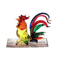 Handmade Chicken Art Art Glass Blown Bird Animal Figurine by We Are Handmade Figurine Art Glass...