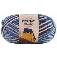 BERNAT Blanket Brights Small Ball Yarn 毛糸 超極太 ブルー ホワイト 301g 約201m