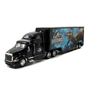 Jada Toys Jurassic World 1:32 Peterbilt 387 Long Hauler Vehicle, Black [並行輸入品]