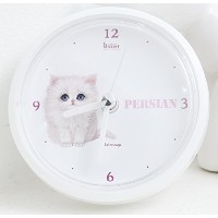 Tatarooga Design 放水時計 Waterproof Clock 猫時計 - ペルシャネコ (Persian)