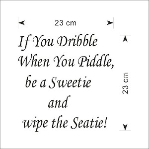 Intimesy 便座 ウォールステッカー If You Dribble When you piddle