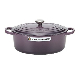 Le Creuset ルクルーゼ SIGNATURE シグニチャー Cocotte Ovale 27 cm ココットオーバル Cassis カシス 両手鍋 [並行輸入品]