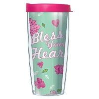 Bless Your Heart WrapタンブラーMug with Lid 16 Oz ブルー