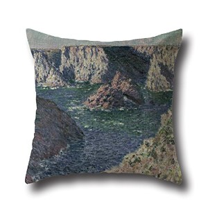Monet PaintingBusy Day Pillowcover 16 X 16 Inches / 40 By 40 Cm Gift Or Decor For Bar,home Office...