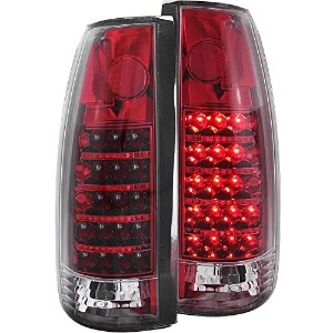 Anzo USA 311079 Cadillac/Chevrolet/GMC Red/Crystal G3 LED Tail Light Assembly - (Sold in Pairs) ...