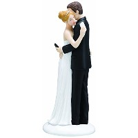 High Quality Texting Bride and Groom Figurine, 6.5-Inch