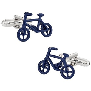 自転車サイクリングCufflinks in BLUE Cuff - Daddy