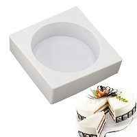 New Arrival DIY White Silicone Cake Pan Square Cylinder Shape Molds for Mousse Baking Decorating...