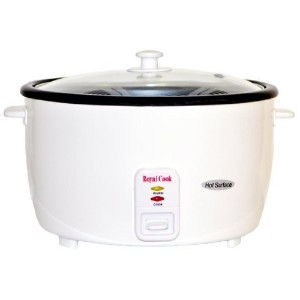Royal Cook RC-77251 Persian Rice Cooker with Glass Lid, 25-Cup, White by Royal Cook