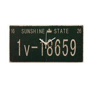 Used Number Plate Design clock 7Colors (GREEN/グリーン)