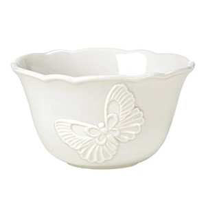LenoxバタフライMeadow Carved Dinnerware Rice Bowl