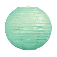 Beistle 54570-MG 3 Piece 9.5 Paper Lanterns, Mint Green