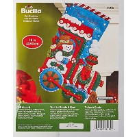 Bucilla 86435 Felt Applique Stocking Kit (16-Inch), All Aboard, , 16